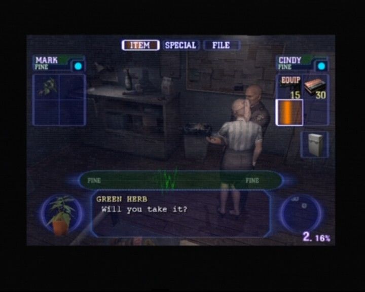 Resident Evil: Outbreak PlayStation 2 When close to other characters, you can exchange items with them