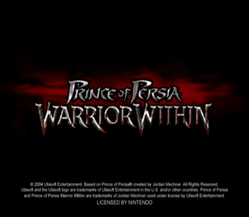 Prince of Persia: Warrior Within GameCube Title Screen