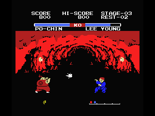 Yie Ar Kung-Fu 2: The Emperor Yie-Gah MSX Kung-Fu in action