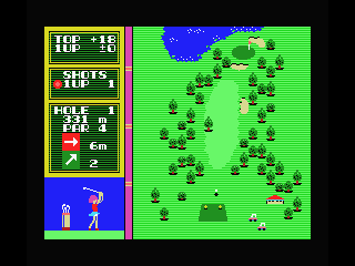 Hole in One MSX Hit the ball