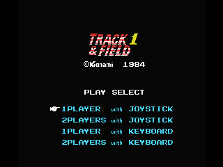Track & Field MSX Title Screen