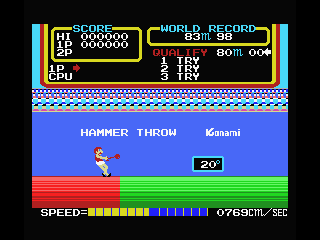 Track & Field MSX Hammer throw