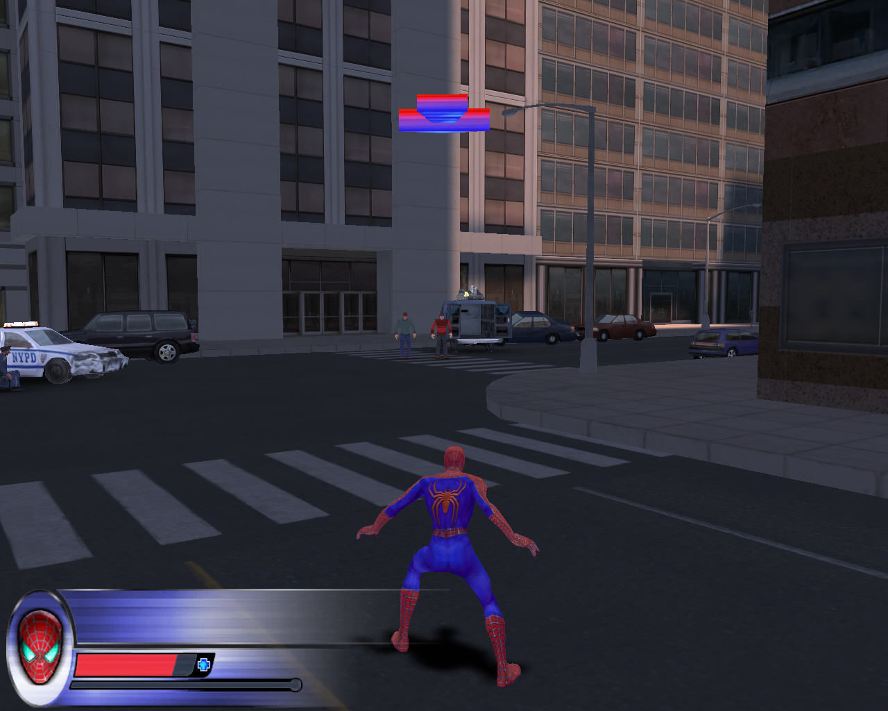 Spider-Man 2: The Game Windows Your first enemies: bandits.