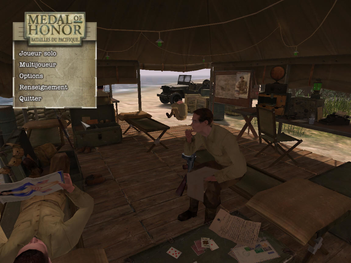 Medal of Honor: Pacific Assault Windows Menu
