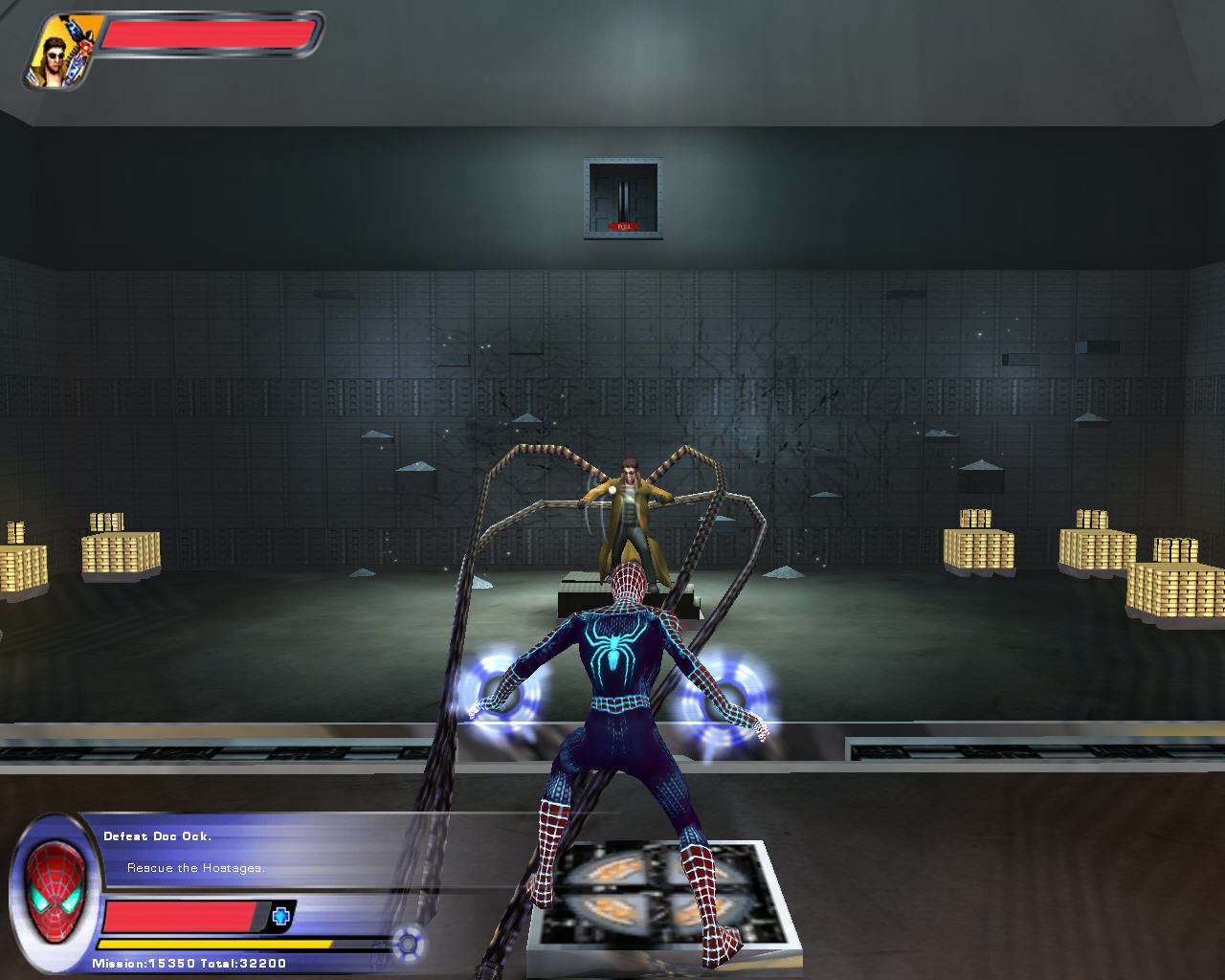 Spider-Man 2: The Game Windows First fight with Dr. Octopus.