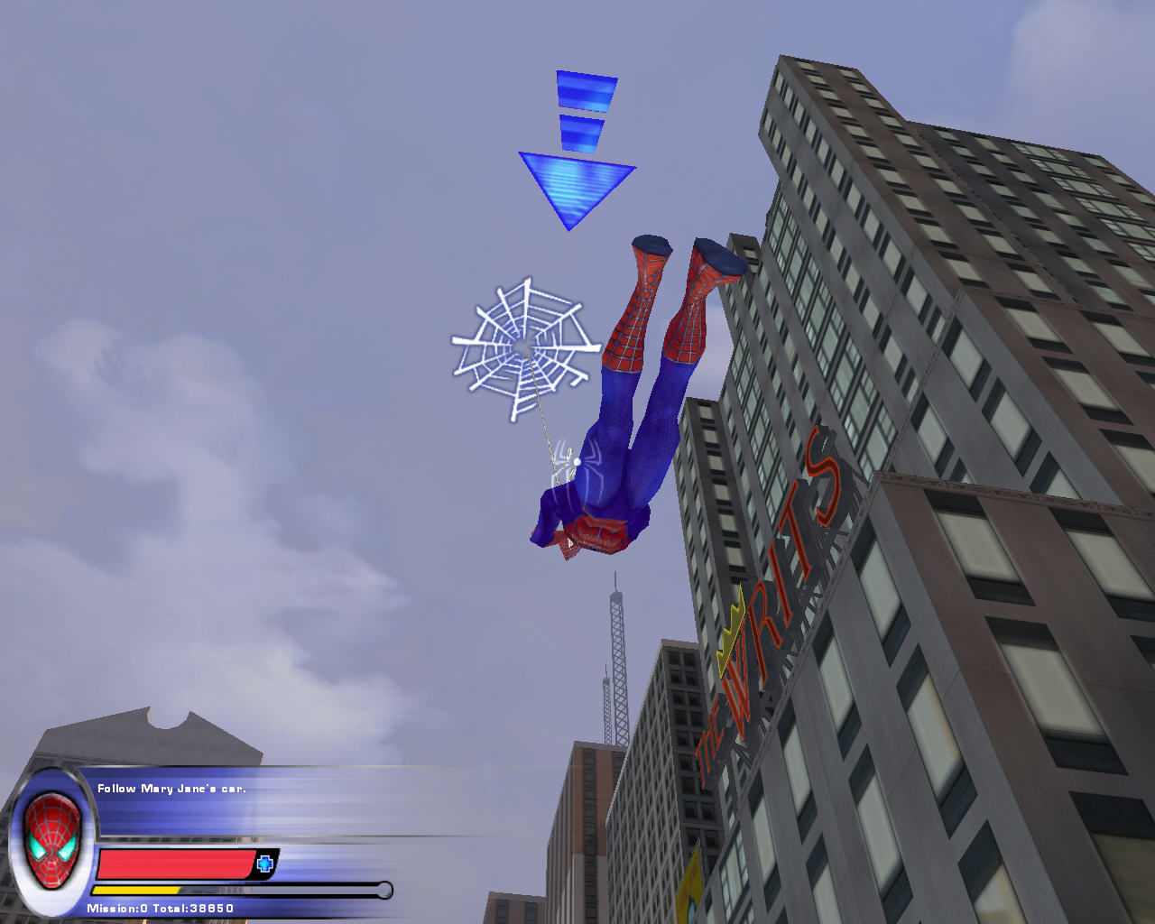 Spider-Man 2: The Game Windows Follow Mary Jane's car.