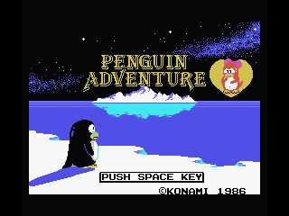 Penguin Adventure MSX Title screen