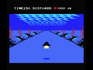 Penguin Adventure MSX Under water swimming