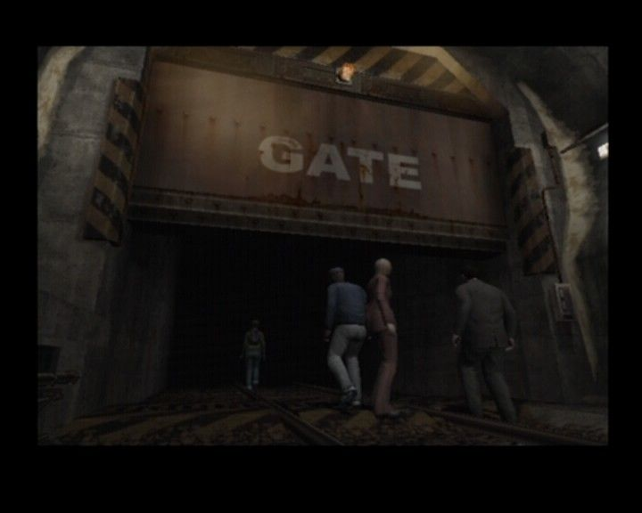 Resident Evil: Outbreak PlayStation 2 Entering the compound of an underground facility