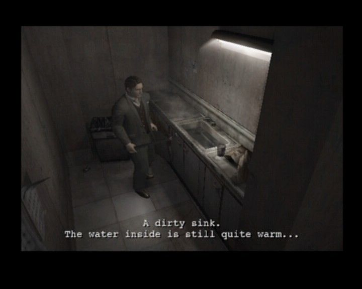 Resident Evil: Outbreak PlayStation 2 Warm water... hm, I wonder if it could melt an ice off a frozen key-wrench
