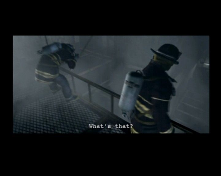 Resident Evil: Outbreak PlayStation 2 Fire squad searching for any survivors inside the burning hotel