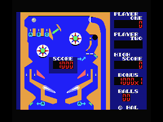 Rollerball MSX Aim at positions marked with A, B and C.