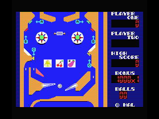 Rollerball MSX Down the first drain!