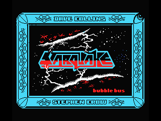 Starquake MSX Title screen