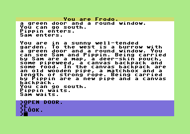 The Fellowship of the Ring Commodore 64 In Bilbo's garden