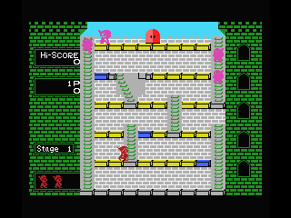 Mr. Do!'s Castle MSX You can move diagonal stairs