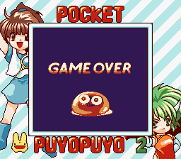 Puyo Puyo 2 Game Boy Game over