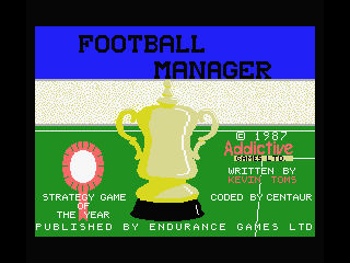 Football Manager MSX Title Screen