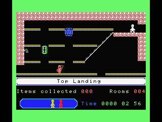 Jet Set Willy II: The Final Frontier MSX Top Landing