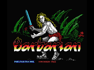 Barbarian MSX Loading screen