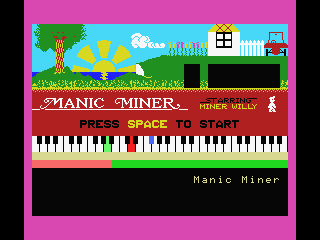 Manic Miner MSX Title screen