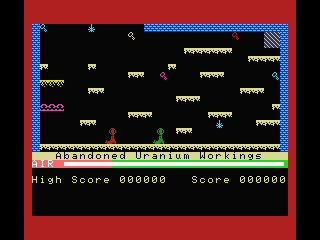 Manic Miner MSX Abandoned Uranian Workings
