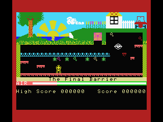Manic Miner MSX High score screen