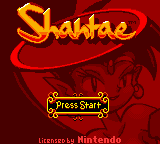 Shantae Game Boy Color Title screen.