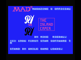 Spy vs. Spy: The Island Caper MSX Title screen