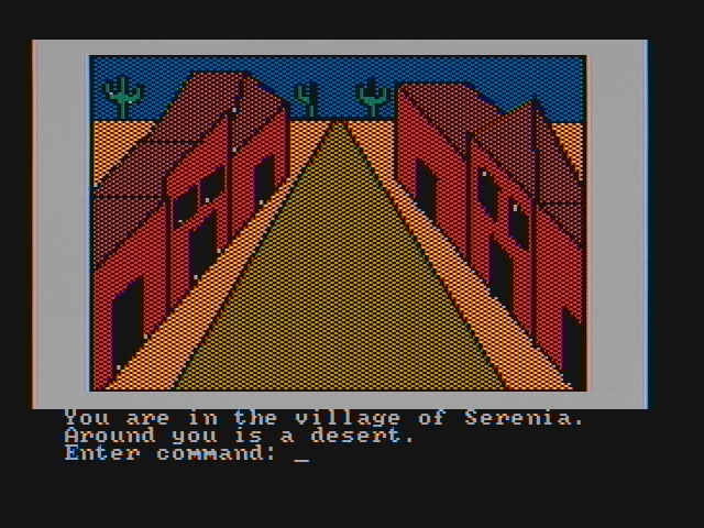 Hi-Res Adventure #2: The Wizard and the Princess PC Booter The beginning location (CGA with composite monitor)