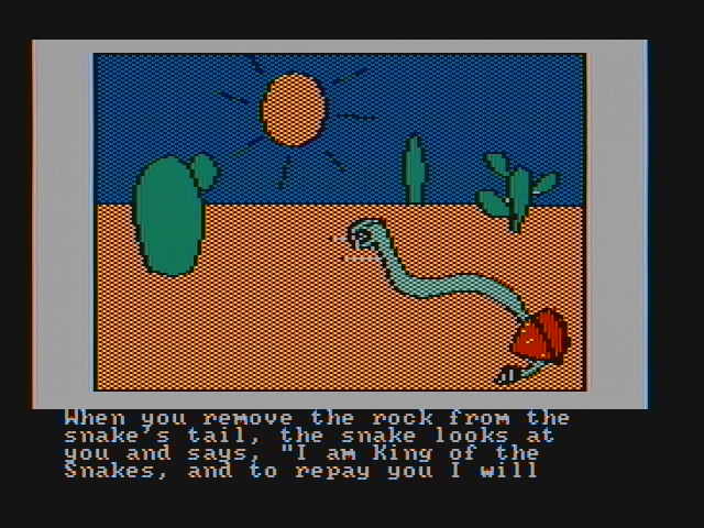 Hi-Res Adventure #2: The Wizard and the Princess PC Booter The king of the snakes! (CGA with composite monitor)