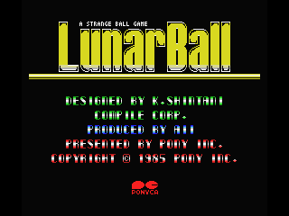 Lunar Pool MSX Title screen