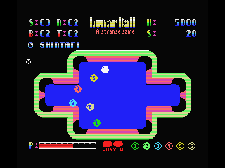 Lunar Pool MSX This one is different