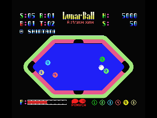 Lunar Pool MSX Let's pockect some balls