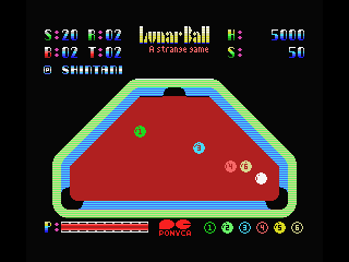 Lunar Pool MSX Another different shape