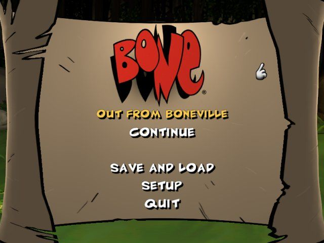 Bone: Out from Boneville Windows Main Menu