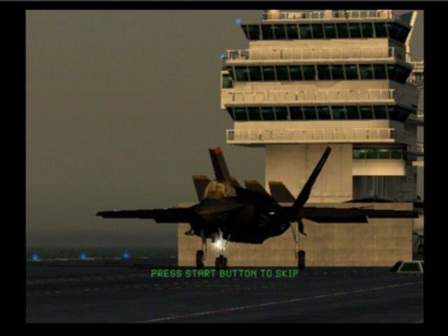 Ace Combat 5: The Unsung War PlayStation 2 Taking off of a cruiser
