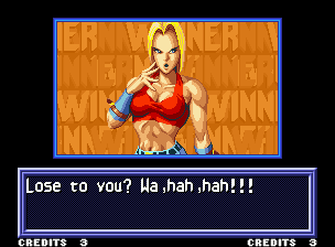 Real Bout Fatal Fury Neo Geo Victory screen (only seen after 2 Player