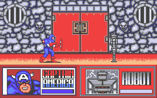 The Amazing Spider-Man and Captain America in Dr. Doom's Revenge! Atari ST Ready for the first fight