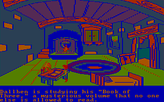 The Black Cauldron PC Booter Visiting Dallben's cottage (CGA with RGB monitor)