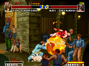 Real Bout Fatal Fury Neo Geo Unhappily, Shiranui's clan power didn't get to overcome Chonshu's hyper move Teio Syukukyoken...