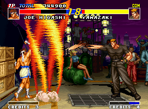 Real Bout Fatal Fury Neo Geo Yamazaki tries to invade Joe's Screw Upper protection, but your Snake Arm failed successfully... :-)