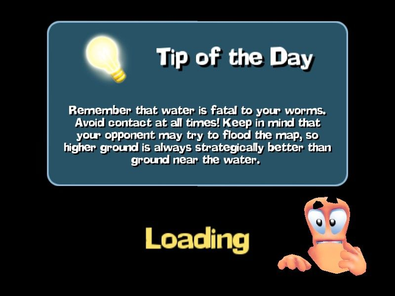 Worms Forts: Under Siege Windows Tip of the Day
