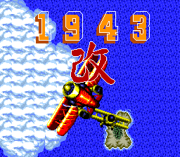 1943 Kai TurboGrafx-16 Title screen