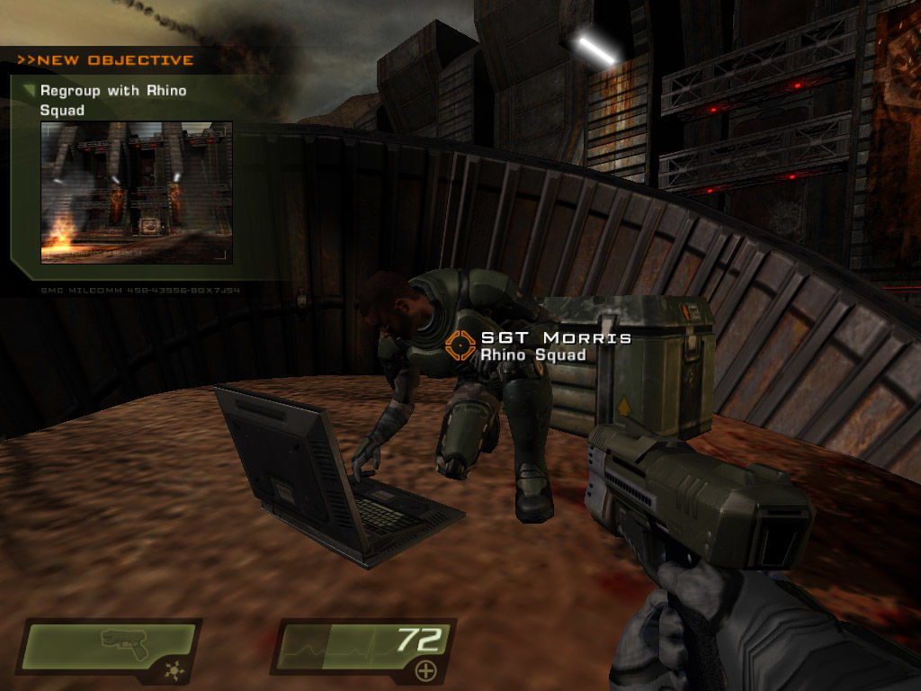 Quake 4 Windows Getting orders from a field commander
