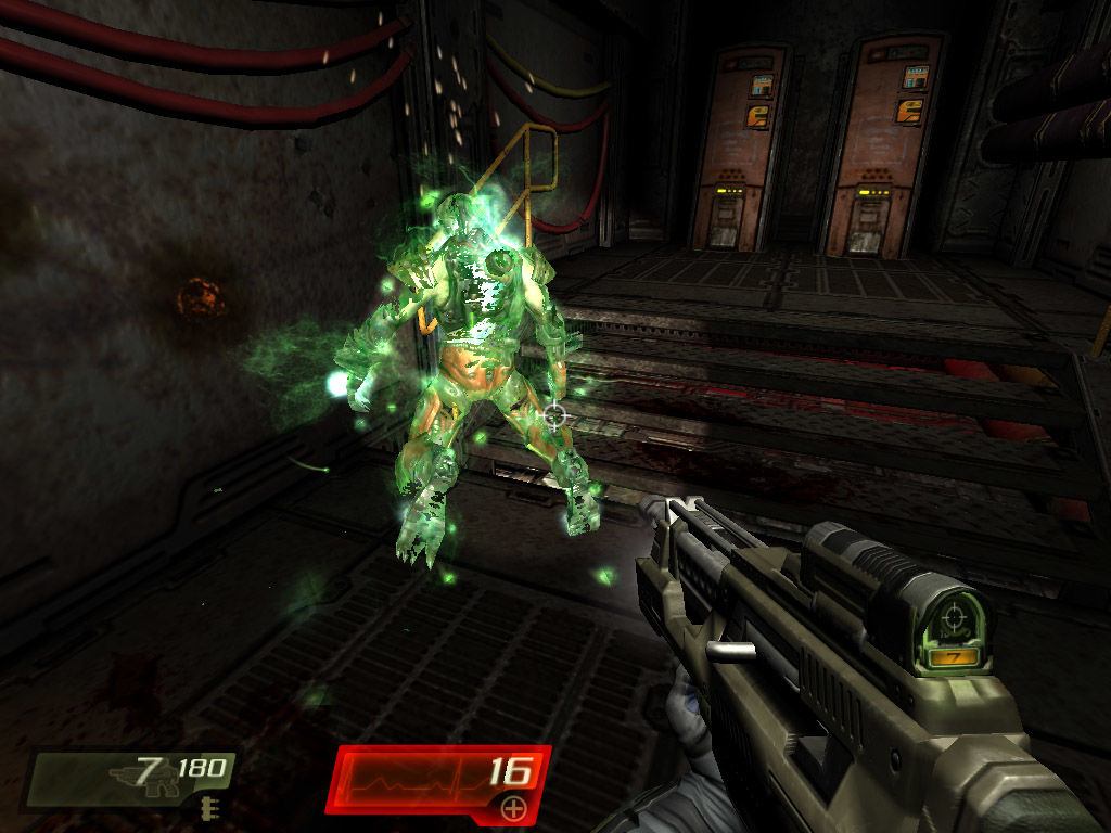 Quake 4 Windows Stroggs phase-out with some impressive effects whenever they die