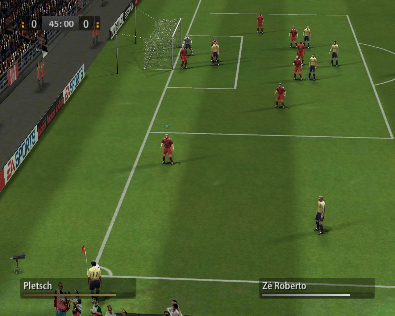 FIFA Soccer 06 Windows During a corner