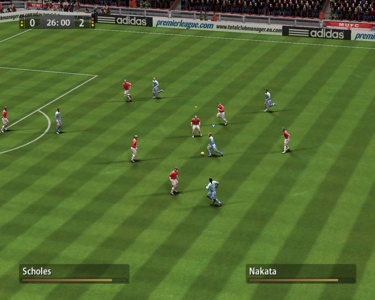 FIFA Soccer 06 Windows The dynamic camera view is the best choice to play the game