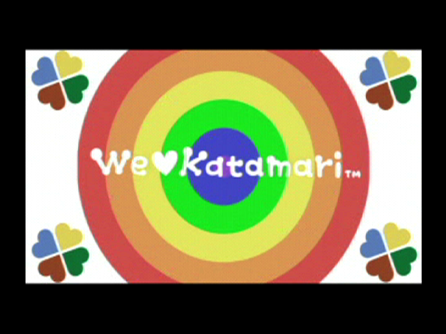 We Love Katamari PlayStation 2 Opening title