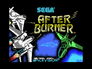 After Burner MSX Title screen